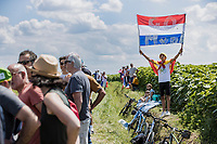 Roadside MVDP fan <br /> <br /> Stage 4 from Tours to Chateauroux (160.6km)<br /> 108th Tour de France 2021 (2.UWT)<br /> <br /> ©kramon