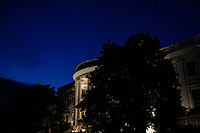 The White House is seen at night after U.S. President Joe Biden returned from attending Mass at Holy Trinity Catholic Church in Washington, D.C., U.S., on Friday, February 20, 2021. <br /> Credit: Samuel Corum / Pool via CNP /MediaPunch