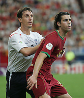 Tiago, Gary Neville.  Portugal defeated England on penalty kicks after playing to a 0-0 tie in regulation in their FIFA World Cup quarterfinal match at FIFA World Cup Stadium in Gelsenkirchen, Germany, July 1, 2006.