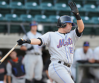 August 2, 2009: Catcher Taylor Freeman (12) of the Kingsport Mets, 2009 eighth round draft pick of the New York Mets, in a game at Pioneer Park in Greeneville, Tenn. Photo by: Tom Priddy/Four Seam Images