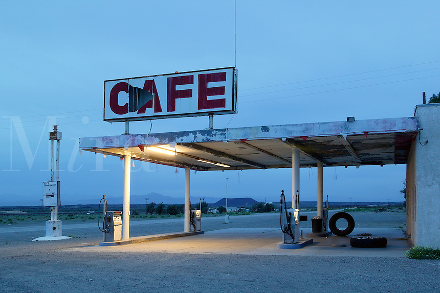 Roy's Cafe, Motel and gas station along Route 66, Amboy, California