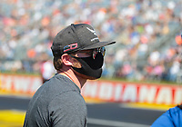 Sep 5, 2020; Clermont, Indiana, United States; IndyCar driver Conor Daly in attendance of NHRA qualifying for the US Nationals at Lucas Oil Raceway. Mandatory Credit: Mark J. Rebilas-USA TODAY Sports