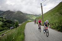 Kenny Elissonde (FRA/Trek - Segafredo) up the Col du Pré (HC/1748m/12.6km@7.7%)<br /> <br /> 73rd Critérium du Dauphiné 2021 (2.UWT)<br /> Stage 7 from Saint-Martin-le-Vinoux to La Plagne (171km)<br /> <br /> ©kramon