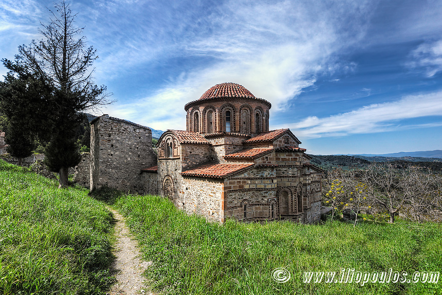 The church of Agioi Theodoroi (1290 A.D.) in Mystras, Greece