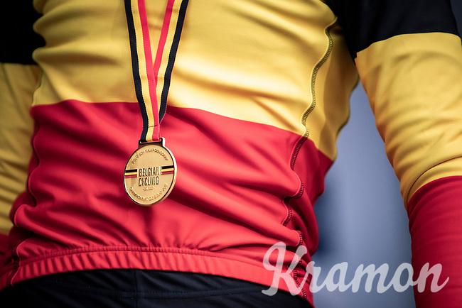 Toon Vandebosch (BEL/Pauwels Sauzen - Bingoal) win's the men's U23 race and becomes Belgian National Champion CX U23<br /> <br /> Men's U23 race<br /> Belgian National CX Championships<br /> Antwerp 2020