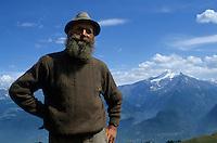 Europe/Italie/Val d'Aoste: un berger dans les alpages  du Pila