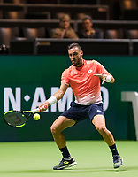 Rotterdam, The Netherlands, 14 Februari 2019, ABNAMRO World Tennis Tournament, Ahoy, Damir Dzumhur (BIH)<br /> Photo: www.tennisimages.com/Henk Koster