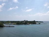 Hafen Mahogany Bay auf Roatan mit Strandclub und Seilbahn - 01.02.2020: Roatan mit der Costa Luminosa