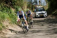 Jérôme Baugnies (BEL/Wanty - Gobert) & Marco Minnaard (NED/Wanty - Gobert) bridging the gap to the breakaway<br /> <br /> 54th Amstel Gold Race 2019 (1.UWT)<br /> One day race from Maastricht to Berg en Terblijt (NED/266km)<br /> <br /> ©kramon
