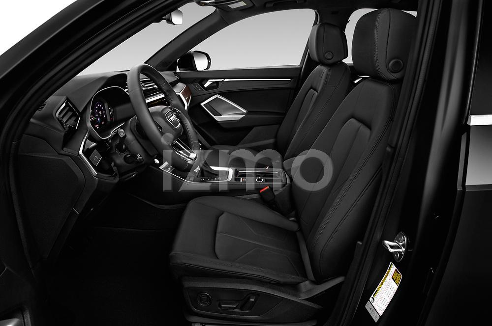 Front seat view of a 2019 Audi Q3 Premium Plus 5 Door SUV front seat car photos