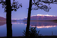Sunset on Mount Katolinat, Naknek lake, Katmai National Park, Alaska.