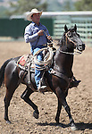 Danny Nalder rides across the area during the Minden Ranch Rodeo on Saturday, July 23, 2011, in Gardnerville, Nev. .Photo by Cathleen Allison