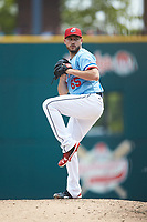 Columbus Clippers relief pitcher Cole Sulser (65) in action against the Indianapolis Indians at Huntington Park on June 17, 2018 in Columbus, Ohio. The Indians defeated the Clippers 6-3.  (Brian Westerholt/Four Seam Images)