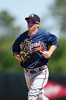 Atlanta Braves outfielder Cody Livesay (9) during a minor league spring training game against the Washington Nationals on March 26, 2014 at Wide World of Sports in Orlando, Florida.  (Mike Janes/Four Seam Images)