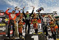 18-20 March 2011, Chandler, Arizona, USA Rick Huseman, winner, celebration,  trophy, Toyota Tundra ©2011, Mark J. Rebilas