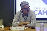 Campinas (SP), 22/02/2021 - Dario Saadi - Sérgio Bisogni, Presidente da Rede Mario Gatti. O prefeito de Campinas (SP), Dário Saadi (Republicanos), realizou nesta segunda-feira (22), um anúncio com ações que serão tomadas para o combate à covid-19 na cidade. A medida vai ocorrer, segundo Dário, devido a um aumento significativo de casos da doença em Campinas.<br /> Ontem, a cidade atingiu lotação máxima de leitos de UTI-Covid no sistema público de saúde. A taxa inclui leitos da rede pública municipal e estadual.