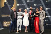 Joe MINOSO, Yuri SARDAROV, Kelli GIDDISH, LaRoyce HAWKINS, Miranda RAE MAYO, Nick GEHLFUSS - Photocall 'NBC' - 57ème Festival de la Television de Monte-Carlo. Monte-Carlo, Monaco, 17/06/2017. # 57EME FESTIVAL DE LA TELEVISION DE MONTE-CARLO - PHOTOCALL 'NBC'