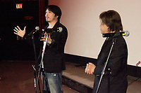 Montreal (Qc) CANADA - July 10 2010 -Fantasia festival 2010 - GALLANT co-director Clement Cheng. <br /> (L) and <br /> Hong Kong action star Bruce Leung  (R) during the screening of GALLANTS  (Canadian Premiere). Best remembered by Western audiences as the Beast, the main baddie in Stephen ChowÌs KUNG FU HUSTLE, LeungÌs legacy goes back to the Ì70s when he began his career playing supporting characters and working as an action director. For the next 20 years, he thrilled audiences. After a 15-year absence, he returned in 2004. In his latest film, GALLANTS, he appears as an aging student whose past glories are behind him but must use his super-strength once again.