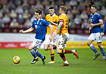 Motherwell v St Johnstone…20.02.21   Fir Park   SPFL<br />Craig Bryson and Robbie Crawford<br />Picture by Graeme Hart.<br />Copyright Perthshire Picture Agency<br />Tel: 01738 623350  Mobile: 07990 594431