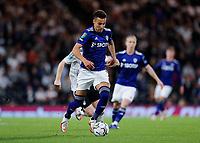 21st September 2021; Craven Cottage, Fulham, London, England; EFL Cup Football Fulham versus Leeds; Rodrigo Moreno of Leeds United on the ball