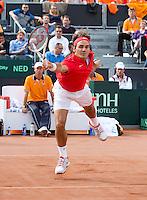 15-09-12, Netherlands, Amsterdam, Tennis, Daviscup Netherlands-Suisse, Doubles,   Roger Federer