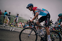 Bob Jungels (LUX/Quick Step Floors) up the brutal Col du Portet (HC/2250m/16km at 8.7%/Souvenir Henri Desgrange) in this historically short stage (only 65km)<br /> <br /> Stage 17: Bagnères-de-Luchon > Saint-Lary-Soulan (65km)<br /> <br /> 105th Tour de France 2018<br /> ©kramon