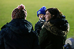 Pickering fans. Stocksbridge Park Steels v Pickering Town,  Evo-Stik East Division, 17th November 2018. Stocksbridge Park Steels were born from the works team of the local British Steel plant that dominates the town north of Sheffield.<br /> Having missed out on promotion via the play offs in the previous season, Stocksbridge were hovering above the relegation zone in Northern Premier League Division One East, as they lost 0-2 to Pickering Town. Stocksbridge finished the season in 13th place.