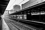 Early morning on the platform at Central Station, Sydney, NSW, Australia