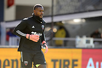 WASHINGTON, DC - MARCH 07: Bill Hamid #24 of D.C. United during pre game warmups during a game between Inter Miami CF and D.C. United at Audi Field on March 07, 2020 in Washington, DC.