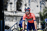 Vincenzo Nibali (ITA) Bahrain-Merida at sign on before the start of Stage 16 of the 2019 Tour de France running 177km from Nimes to Nimes, France. 23rd July 2019.<br /> Picture: ASO/Pauline Ballet   Cyclefile<br /> All photos usage must carry mandatory copyright credit (© Cyclefile   ASO/Pauline Ballet)