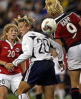 Abby Wambach v Anita Rapp(Norway).2003 WWC USA/Norway quarter final.
