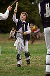 Morris dancers Whitchurch. Buckinghamshire  England. Young boy team member.  1990s.