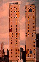 "Utopia:  World Trade Center ""Trade Offs""--Boogie-Woogie Square.  Postcard by Michael Langenstein in NEW YORK MAGAZINE, July 21, 1975."