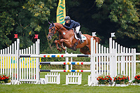 AUS-Sammi Birch rides Findus PFB during the Showjumping for the CCI5*-L. 2021 GBR-Chedington Bicton CCI5* International Horse Trial. Bicton Park, Devon. Great Britain. Sunday 5 September.  Copyright Photo: Libby Law Photography
