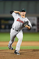 Great Lakes Loons pitcher Kyle Hooper (36) delivers a pitch during a game against the West Michigan Whitecaps on June 5, 2014 at Fifth Third Ballpark in Comstock Park, Michigan.  West Michigan defeated Great Lakes 6-2.  (Mike Janes/Four Seam Images)