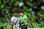Patric (L) of Gamba Osaka, Hyungil of Jeonbuk Hyundai Motors. Jeonbuk Hyundai Motors vs Gamba Osaka during the 2015 AFC Champions League Quarter-Final 1st Leg match on August 26, 2015 at the Jeonju World Cup Stadium, in Jeonju, Korea Republic. Photo by Xaume Olleros /  Power Sport Images