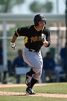 Pittsburgh Pirates Erik Lunde (78) during a minor league spring training game against the Toronto Blue Jays on March 21, 2015 at Pirate City in Bradenton, Florida.  (Mike Janes/Four Seam Images)