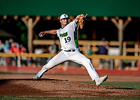 12 June 2021: Vermont Lake Monsters pitcher Joe Henry, from Purchase, NY, on the mound against the Westfield Starfires at Centennial Field in Burlington, Vermont. The Lake Monsters defeated the Starfires 4-1 at Centennial Field, in Burlington, Vermont. Mandatory Credit: Ed Wolfstein Photo *** RAW (NEF) Image File Available ***