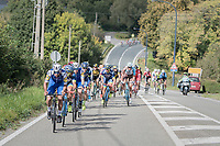 Fernando Gaviria (COL/Quick-Step Floors) upping the pace after the peloton broke in 2 parts early in the race<br /> <br /> Binche-Chimay-Binche 2017 (BEL) 197km<br /> 'Mémorial Frank Vandenbroucke'