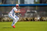 21 February 2019: Washington Nationals outfielder Juan Soto takes outfield drills during a Spring Training workout at the Ballpark of the Palm Beaches in West Palm Beach, Florida. Mandatory Credit: Ed Wolfstein Photo *** RAW (NEF) Image File Available ***