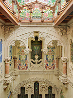 The staircase hall of Casa Navas is a stone and glass cornucopia of Art Nouveau design, every surface dripping with carved leaves and flowers