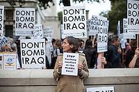 "25.09.2014 - ""Emergency protest: Don't bomb Iraq. Don't bomb Syria"""