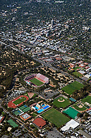 aerial photograph of Stanford University, Palo Alto, California