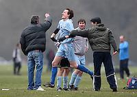 Wenlock Arms (blue) vs Royal Oak - Hackney & Leyton League at South Marsh, Hackney - 07/02/10 - MANDATORY CREDIT: Gavin Ellis/TGSPHOTO - Self billing applies where appropriate - Tel: 0845 094 6026
