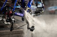 post-stage bike cleaning at Team Total-Direct Energie <br /> <br /> Stage 17: Pont du Gard to Gap (200km)<br /> 106th Tour de France 2019 (2.UWT)<br /> <br /> ©kramon
