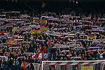 Atletico de Madrid´s supporters during the UEFA Champions League round of 16 second leg match between Atletico de Madrid and Bayer 04 Leverkusen at Vicente Calderon stadium in Madrid, Spain. March 17, 2015. (ALTERPHOTOS/Victor Blanco)