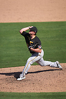Pittsburgh Pirates pitcher Carson Fulmer (56) during a Major League Spring Training game against the Baltimore Orioles on February 28, 2021 at Ed Smith Stadium in Sarasota, Florida.  (Mike Janes/Four Seam Images)