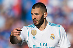 Karim Benzema of Real Madrid reacts during the La Liga 2017-18 match between Getafe CF and Real Madrid at Coliseum Alfonso Perez on 14 October 2017 in Getafe, Spain. Photo by Diego Gonzalez / Power Sport Images
