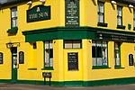 Swanscombe Kent. Ebbsfleet Valley, old rundown small town will be incorporated into new garden city. The Sun pub. Sun Street