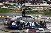 #18: Kyle Busch, Joe Gibbs Racing, Toyota Supra iK9 celebrates his win